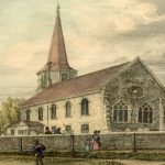 St Leonard's in the early C19th, engraving from a drawing by Charles Burton, c1824