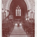 Postcard of the interior of St Leonard's in the early C20th, Clayton & Co