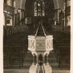 Postcard of the interior of St Leonard's in the early C20th, RC Johns & Co